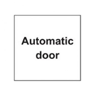 SDI001 - Adhesive Sign - Automatic Door