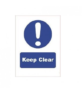 SDI002 - Adhesive Sign - Keep Clear