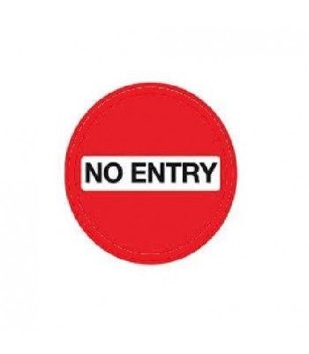 SDI003 - Adhesive Sign - No Entry