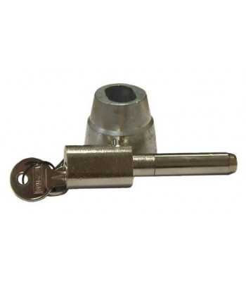 NV195A - Bullet Lock & Housing - Steel - Chrome & Zinc Plated, 55mm Extended Pin