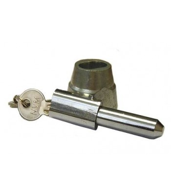 NV195F - Bullet Lock & Housing - Steel - Chrome & Zinc Plated