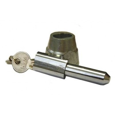 NV195F - Bullet Lock & Housing - Steel & Brass - Chrome & Zinc Plated image