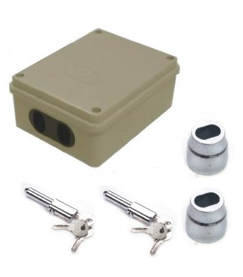 NV231A - Double Pin Lock Isolator with 1 Pair NV195 Bullet Locks & Housing