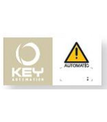 NGO518 - Warning Sign for Automatic Gates