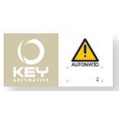 NGO518 - Warning Sign for Automatic Gates (Brand: North Valley Metal)