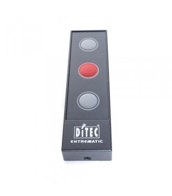 HSD113C - Push Button - 3 Button Station with 3 Key Membrane (Open-Stop-Close), IP40 Rated