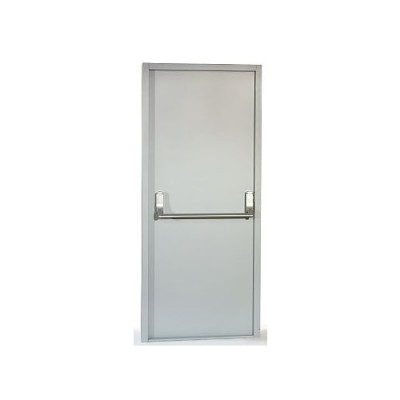 DFS3 - Fire Exit Door - Series 3  - Grey Primer Finish - Pre-Drilled for Panic Furniture (Brand: NVM Doors )
