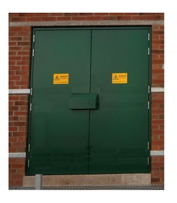 DPS104 - Bespoke Fire Rated Steel Personnel Door Sets -  BS 476 Certified  - Made to Measure