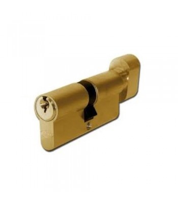 DHL021 - Euro Cylinder -  Keyed One Side, Thumb Turn One Side - Brass