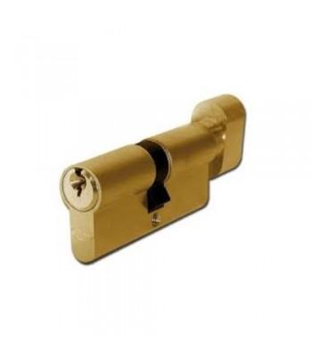 DHL021 - Euro Cylinder -  Keyed One Side, Thumb Turn One Side - Brass