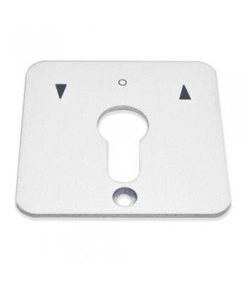 NV245E - Blank Face Plates to suit Geba Key Switches