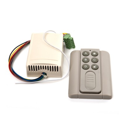 SDR001 - Remote Control Receiver with Mini Handset Transmitter for Automatic Doors Entrance Systems (Brand: North Valley Metal)