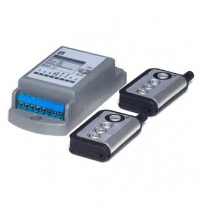 SDR004 - Remote Control Receiver with Keyfob Transmitter for Automated Entrance Systems (Brand: North Valley Metal)