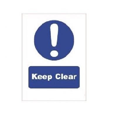 SDI002 - Adhesive Sign - Keep Clear