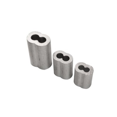 NS5051 - Aluminium Oval Cable Sleeve Double (Brand: North Valley Metal)