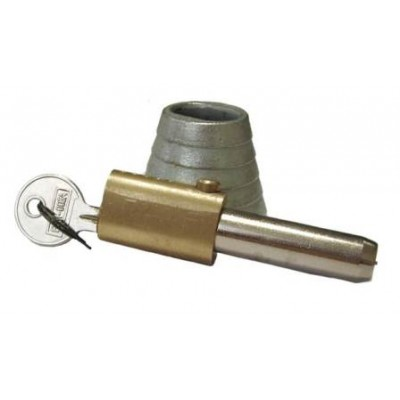 NV195G - NV195G - Bullet Lock & Housing - Steel & Brass - Chrome & Zinc Plated (Brand: )