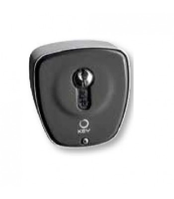 NGO657 - KEY SWITCH, METAL FRONT, PLASTIC BACK, EURO CYL for Automatic Gates