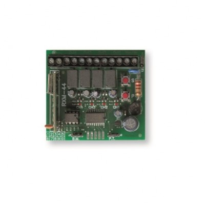 NGO678 - UNIVERSAL RECEIVER RXM-44R 4 CHANNEL (220 ROLLING CODE) for Automatic Gates (Brand: North Valley Metal)