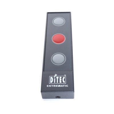 HSD113C - Push Button - 3 Button Station with 3 Key Membrane (Open-Stop-Close), IP40 Rated (Brand: Ditec)