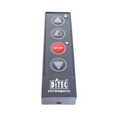 HSD113D - Push Button - 4 Button Station with 4 Key Membrane (Partial Open-Open-Stop-Close), IP40 Rated (Brand: Ditec)