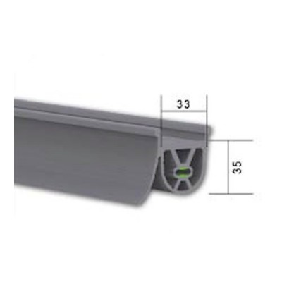 NE130 - Safety Edge Rubber for Industrial Roller Shutters (Brand: North Valley Metal)
