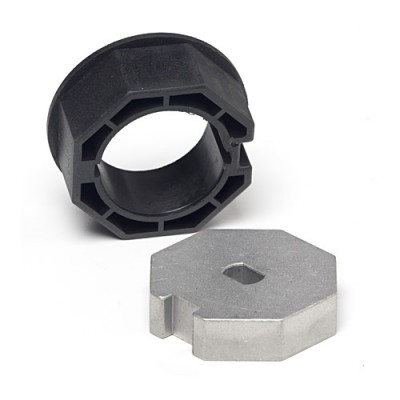 NT4560* - Crown & Adaptor - 57mm for Octagonal Tube 60mm x 1.5mm Wall to suit 45mm Motors (Brand: NVM Motors)