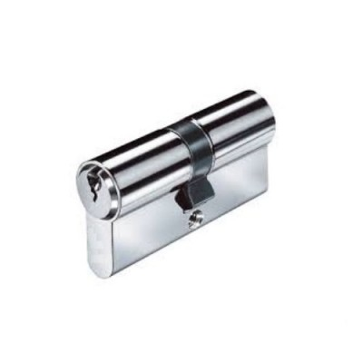 DHL020 - Double Euro Cylinder - Keyed Both Sides - Chrome Plated