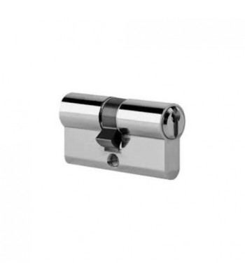 DHL029 - Euro Cylinder - Keyed Both Sides Equal Halves - Chrome Finish