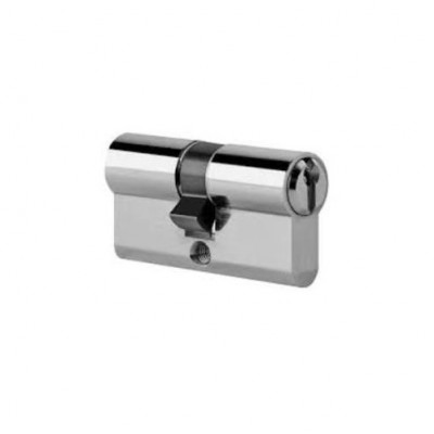 DHL029 - Length Satin Chrome Euro Cylinder (Brand: NVM Steel Door Sets)