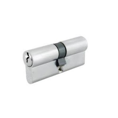 DHL033 - Euro Cylinder Keyed Both Sides Nickel (Brand: NVM Steel Door Sets)