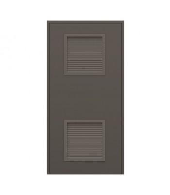 DLS601  - Series 6 - Stocked Steel Louvre Doors - Louvre Panel 479mm x 479mm Top / Bottom