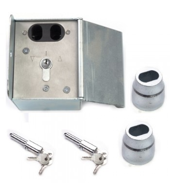 NV237A - Double Pin Lock Isolator Box with Key Switch c/w 1 Pair NV195 Bullet Lock & Housings
