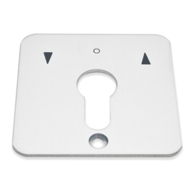 NV245E - Blank Face Plates to suit Geba Key Switches (Brand: GEBA)